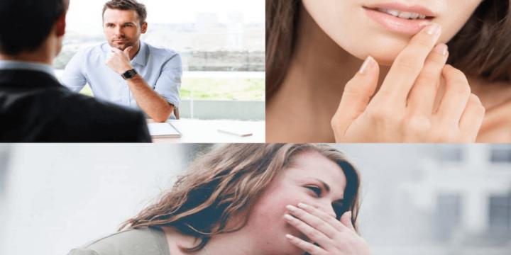 口元に触る仕草の心理